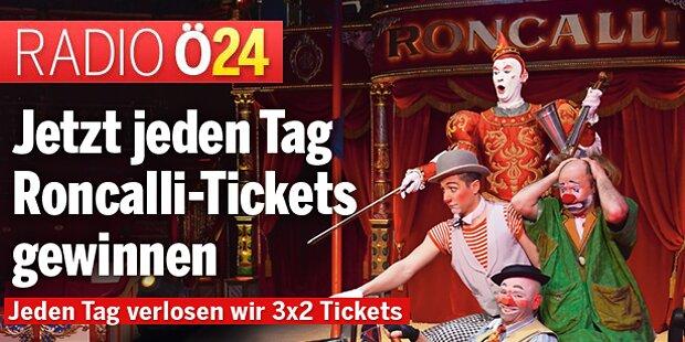 Jeden Tag 3x2 Tickets für den Circus Roncalli gewinnen!