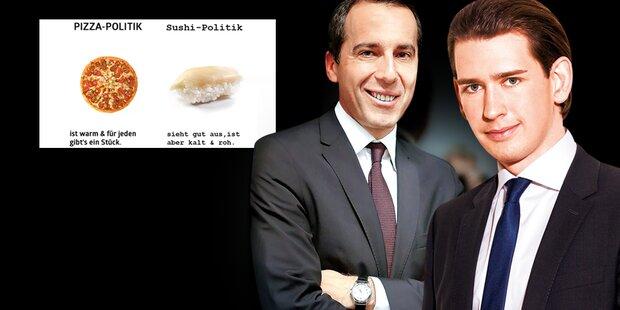 Nächste SPÖ-Attacke: Pizza gegen Sushi