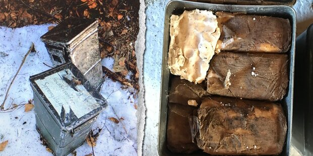 Zwei Kisten mit 40 Kilo Sprengstoff im Flachgau gefunden