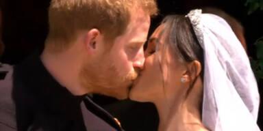Harry & Meghan: So schön war der Kuss