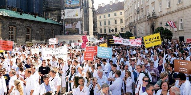 2.000 Ärzte auf der Straße