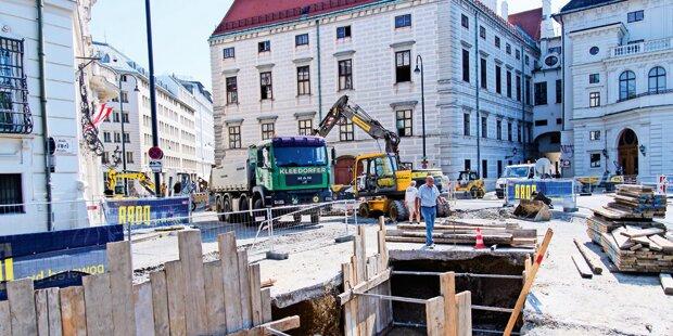 Baustopp für umstrittene Anti-Terror-Mauer am Ballhausplatz