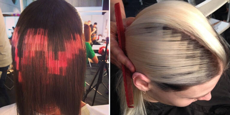 Pixel-Trend für die Haare