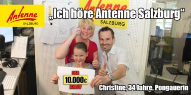 10.000€ Anruf Gewinnerin
