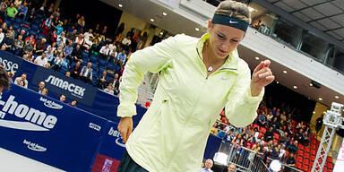 Asarenka tanzt zu Linz-Triumph