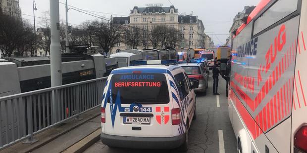 Straßenbahn Crash Wien