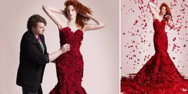 Ein 15kg Blütentraum als Kleid