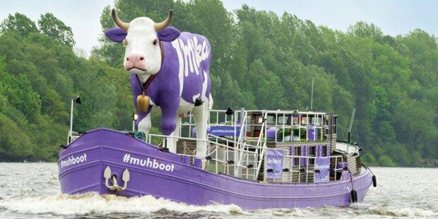 Milka Kuh auf dem Donauinselfest