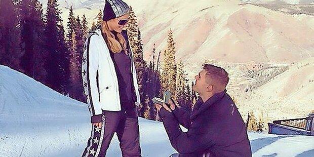 Paris Hilton: Verlobung auf Skipiste