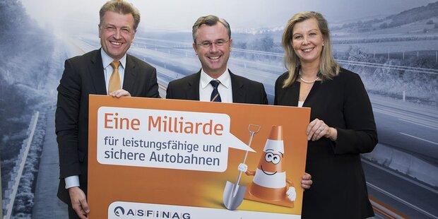 Asfinag investiert heuer 1,1 Mrd. Euro