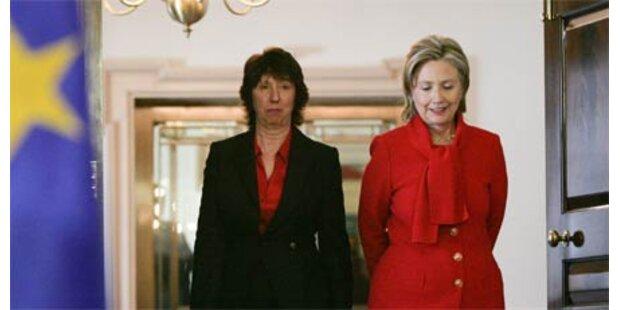 Clinton und Ashton zeigen Härte gg Iran