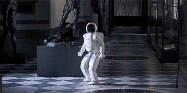 Menschenähnlicher Roboter Asimo in Linz