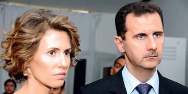 Assad mit Frau Asma