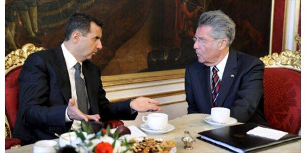 Fischer empfing Syriens Präsident Assad