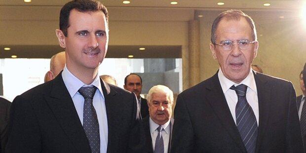 Russland gibt Einsatz in Syrien zu