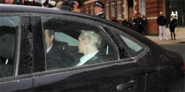 Assange bis Donnerstag in Haft