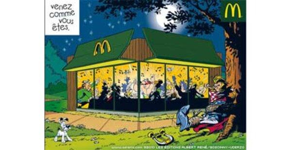 Asterix isst jetzt bei McDonald's
