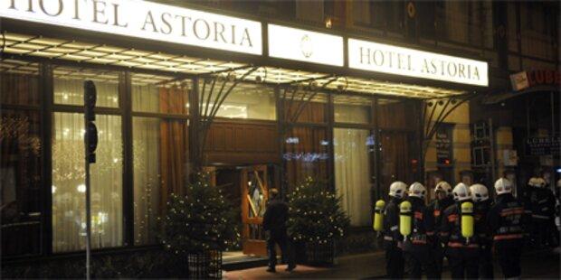 Hotel Astoria wegen Brand evakuiert