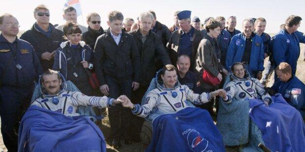 ISS-Raumfahrer heil auf der Erde zurück