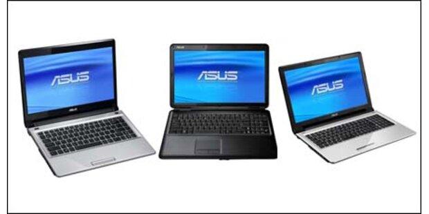 Asus bringt drei neue Notebooks