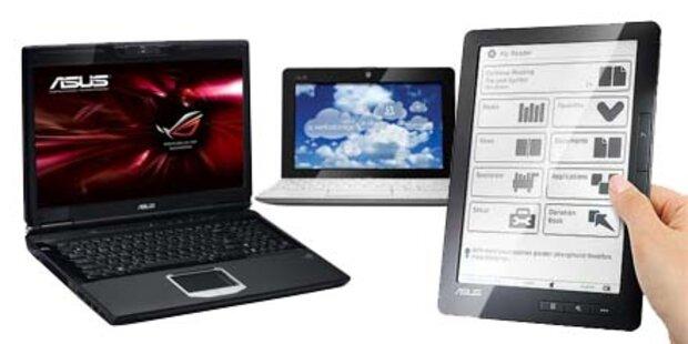 3D-Note-, starkes Netbook & dünnster EeePC