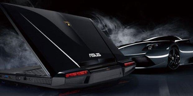Lamborghini-Notebook von Asus startet