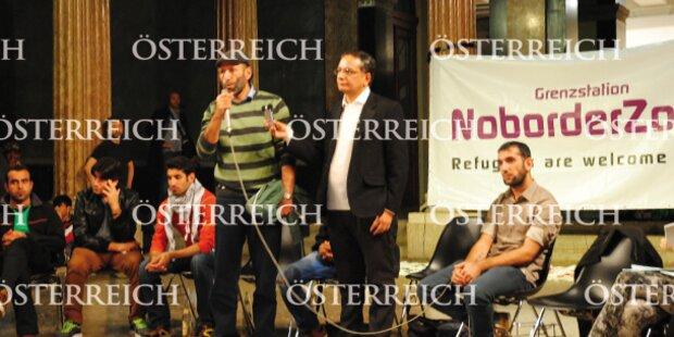 Flüchtlinge besetzen Kunst-Uni