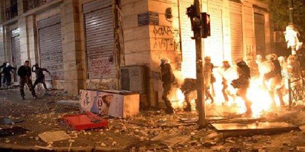 Randalierer verwüsteten Athen