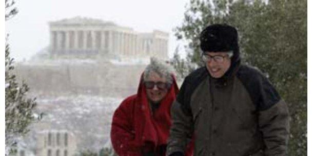 Wintereinbruch in Griechenland