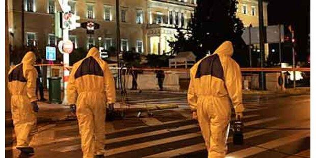Explosion vor Parlament in Athen