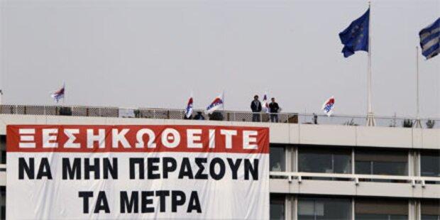 Griechisches Finanz-Ministerium besetzt