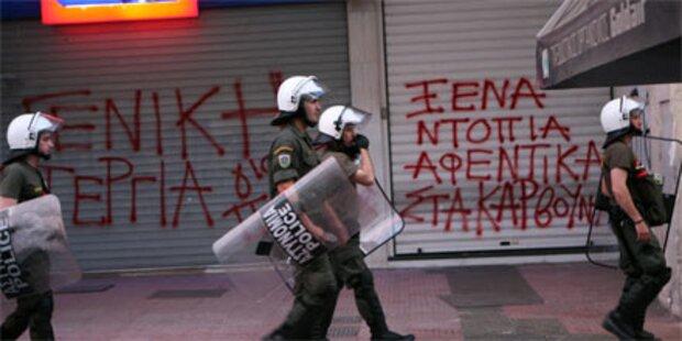 Explosion vor Gefängnis in Athen