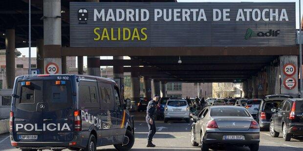 Bomben-Alarm an Madrider Bahnhof