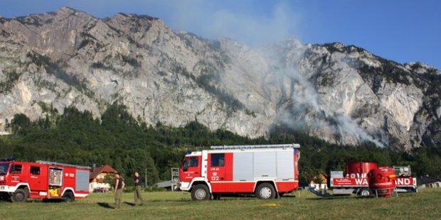 Waldbrände in OÖ weiter hartnäckig