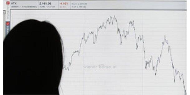 ATX schließt bei minus 7,4 Prozent