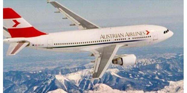 AUA-Airbus fast mit Flugzeug kollidiert