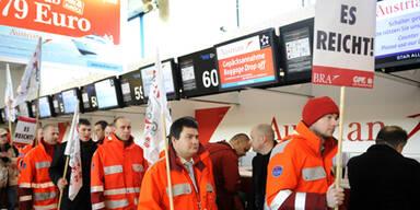 AUA-Bodenpersonal beschließt Streik