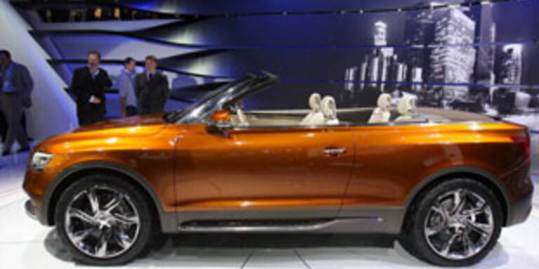 Audi fährt oben ohne ins Gelände