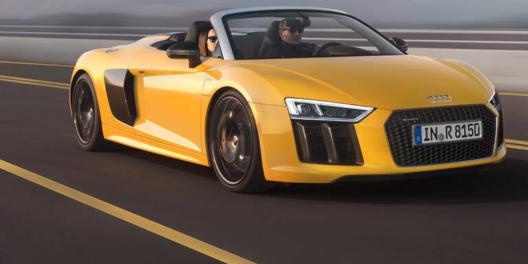 So fährt der neue Audi R8 Spyder