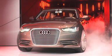 Audi rollt den A6 L e-tron ins Rampenlicht