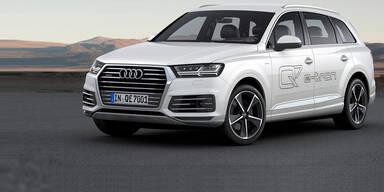 Audi Q7 mit Plug-in-Hybrid startet