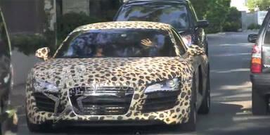 Justin Bieber mit Audi R8 im Leoparden-Look