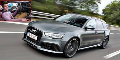 Marcel Hirscher gibt im Audi Gas