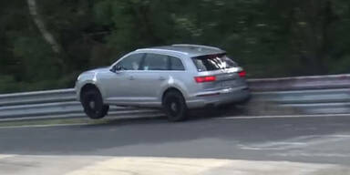 Audi-Testfahrer crasht Prototyp