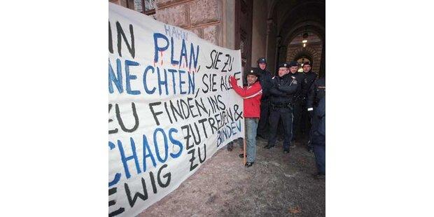 Audimax geräumt - Proteste gehen weiter