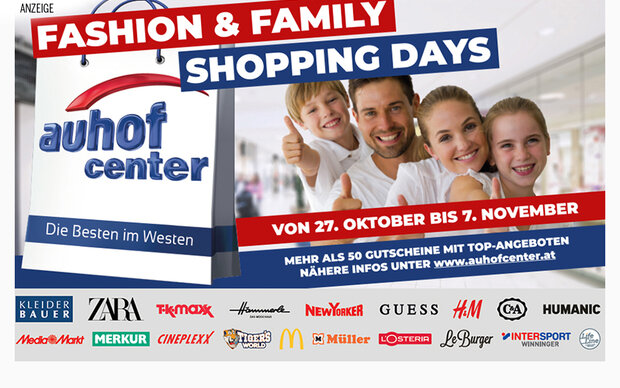 Fashion & Family Shopping Days im Auhof Center