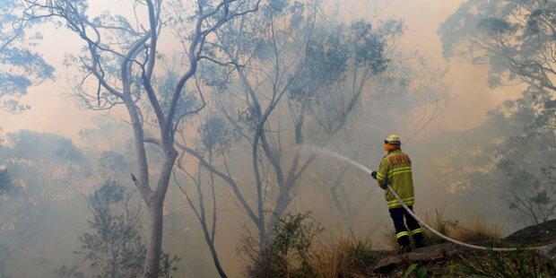 Nieselregen hilft Feuerwehr in Australien