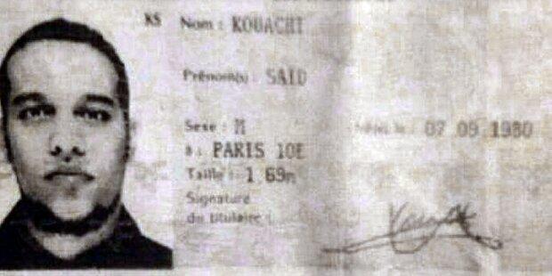 Killer von Paris vergaßen ihren Ausweis