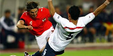 Österreich auch gegen Chile schwach