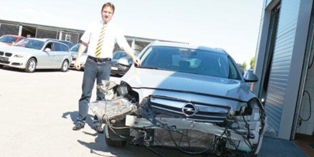 6 kaputte Autos bei illegalem Rennen